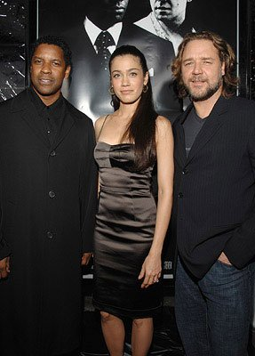 Denzel Washington , Lymari Nadal and Russell Crowe at the Los Angeles Industry Screening of Universal Pictures' American Gangster