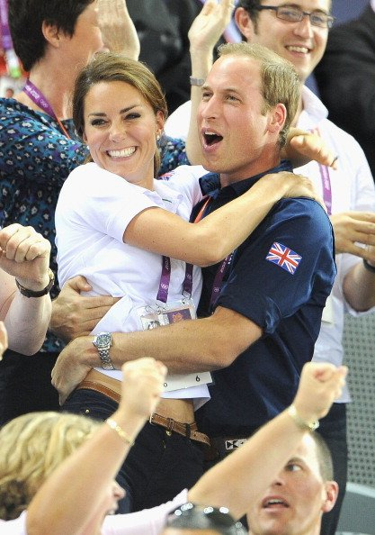 Catherine, Duchess of Cambridge and Prince William, Duke of Cambridge during Day 6 of the London 2012 Olympic Games at Velodrome on August 2, 2012 in London, England. (Photo by Pascal Le Segretain/Get