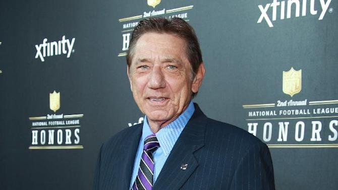 Joe Namath arrives at the 2nd Annual NFL Honors, on Saturday, Feb. 2. 2013 in New Orleans (Photo by Dario Cantatore/Invision/AP)