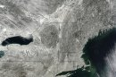 Snow Blankets Northeast in Satellite Image