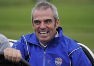 Europe's then Ryder Cup vice-captain Paul McGinley pictured during a practice session at Celtic Manor golf course in Newport, Wales on September 27, 2010. The issue of Ryder Cup team captaincy for 2014 saw the Americans act decisively in naming Tom Watson while in contrast, the Europeans went through a messy process that was only resolved on Tuesday night with the naming of McGinley