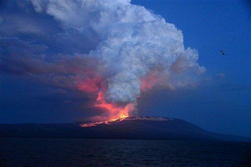 Galapagos Island Volcano Erupts First Time in 33 Years