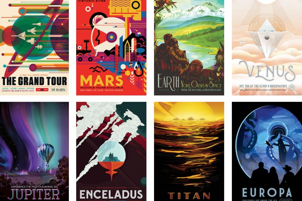 How to download and print NASA's 14 brilliant travel posters at home
