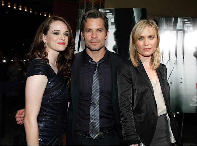 The Crazies LA Screening 2010 Danielle Panabaker Timothy Olyphant Radha Mitchell