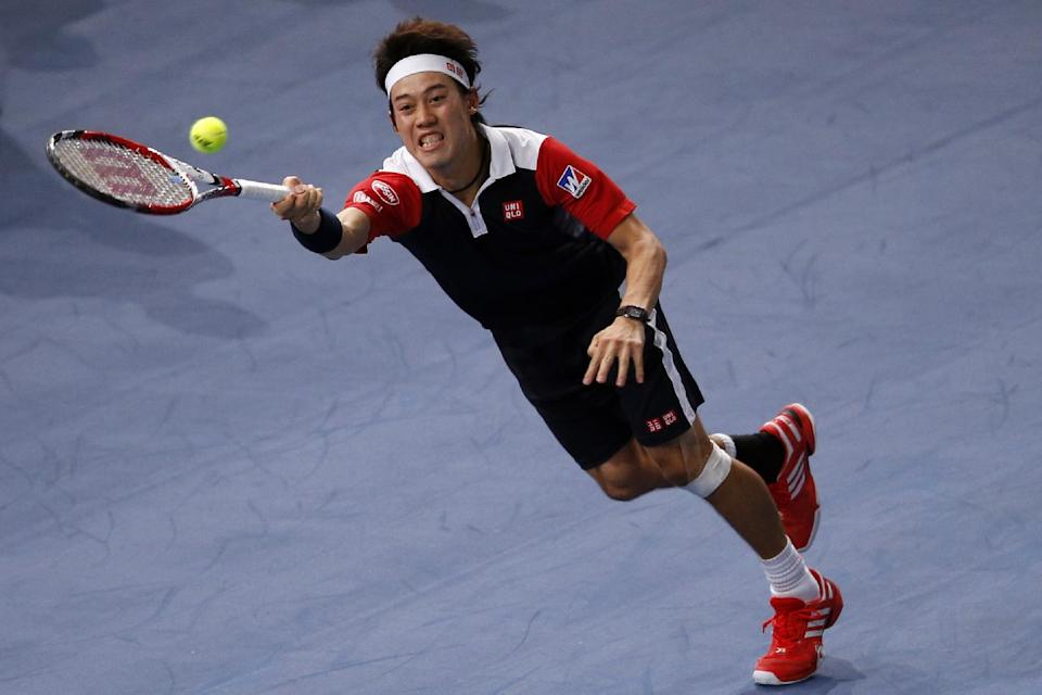 Nishikori beats Tsonga at Paris Masters