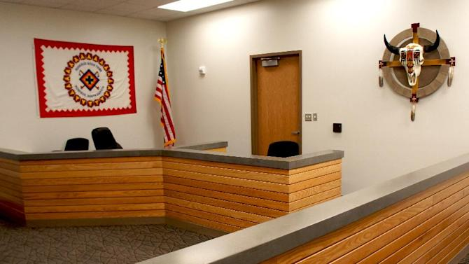This image provided by The Sicangu Eyapaha shows the spiritual room at the new Rosebud Sioux Tribe Adult Correctional Facility, Wolakota Elkupi Oti, on the Rosebud Reservation near Rosebud, S.D. The opening and staffing may be in question due to budget cuts. When it comes to the automatic spending cuts that began taking effect this month, federal lawmakers spared from hard hits those programs that help the nation's most vulnerable, such as food stamps, Social Security and veterans' assistance. That wasn't the case with programs for American Indian reservations, where unemployment is far above the national average, women suffer disproportionately from sexual assaults, and school districts largely lack a tax base to make up for the cuts. (AP Photo//The Sicangu Eyapaha, Tani Gordon)