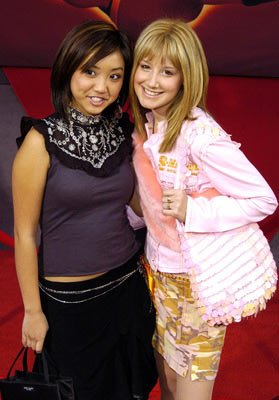 Brenda Song and Ashley Tisdale at the Hollywood premiere of Disney and Pixar's The Incredibles