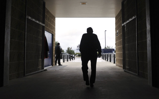 FILE - This Oct. 5, 2010 file photo shows Penn State coach Joe Paterno leaving Beaver Stadium after his weekly NCAA college football news conference in State College, Pa. College sports' governing body was expected to deal a series of heavy blows to the Nittany Lions football program on Monday, July 23, 2012, less than two weeks after a devastating report accused coach Joe Paterno and other top university officials of concealing child sex abuse allegations against a retired assistant coach for years to avoid bad publicity. (AP Photo/Pat Little, File)