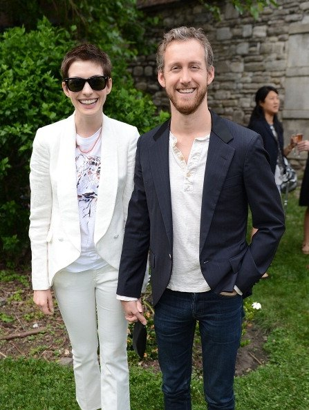 7. Anne Hathaway and Adam Shulman
