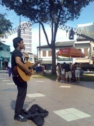 Street busker