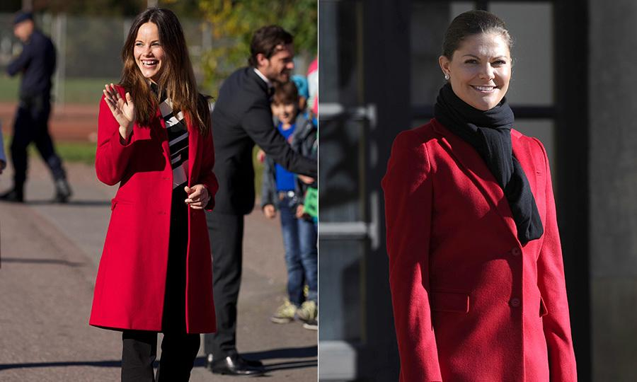 Sweden's Princess Sofia borrows clothes from her sisters-in-law