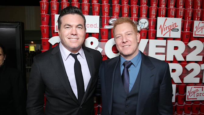 "Relativity Media's Tucker Tooley and Relativity Media's Ryan Kavanaugh at the LA premiere of ""21 and Over"" at the Westwood Village Theatre on Thursday, Feb. 21, 2013 in Los Angeles. (Photo by Eric Charbonneau/Invision/AP)"