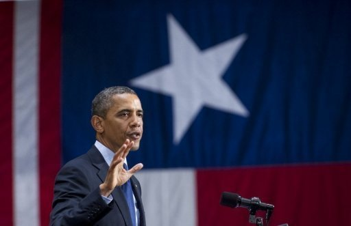 <p>US President Barack Obama speaks during a campaign event in San Antonio, Texas, on July 17. Obama jetted into the Republican bastion of Texas to raise funds and burnish his nationwide appeal as opponents called his American identity into question.</p>