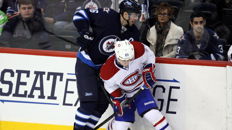 NHL: Montreal Canadiens at Winnipeg Jets