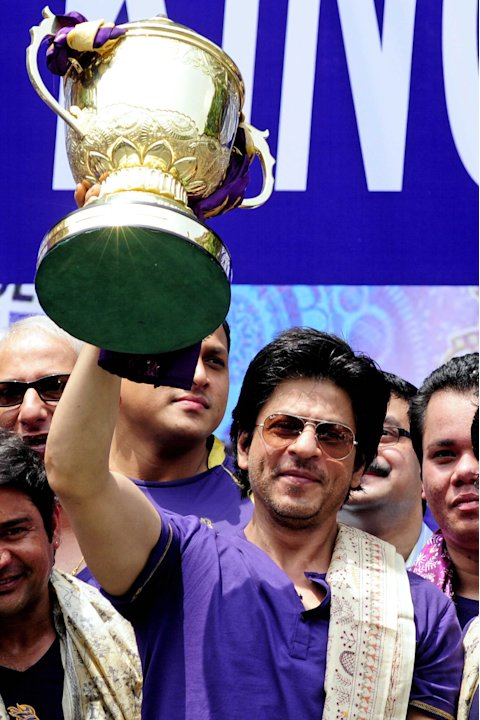 Shah Rukh Khan, owner of IPL cricket tea