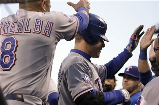 Harrison's 5-hitter leads Rangers past Giants 5-0