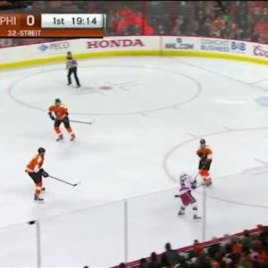 Steve Mason Save on Mats Zuccarello (00:47/1st)