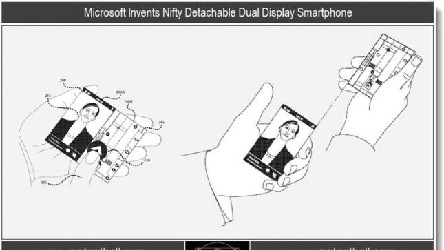 Patent reveals Microsoft's detachable dual display technology