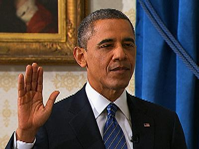 Raw: Obama Sworn in for Second Term