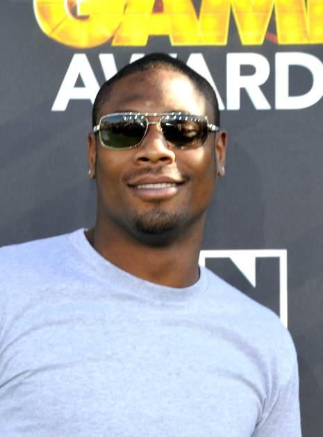Jacoby Jones attends the Third Annual Hall of Game Awards hosted by Cartoon Network at Barker Hangar, Santa Monica, on February 9, 2013 -- Getty Images