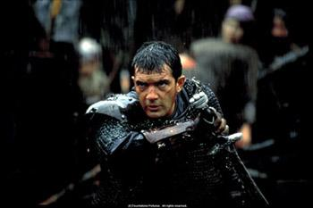 Antonio Banderas as Ahmed Ibn Fahdlan in The 13th Warrior