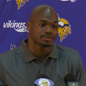 Adrian Peterson speaks on his return