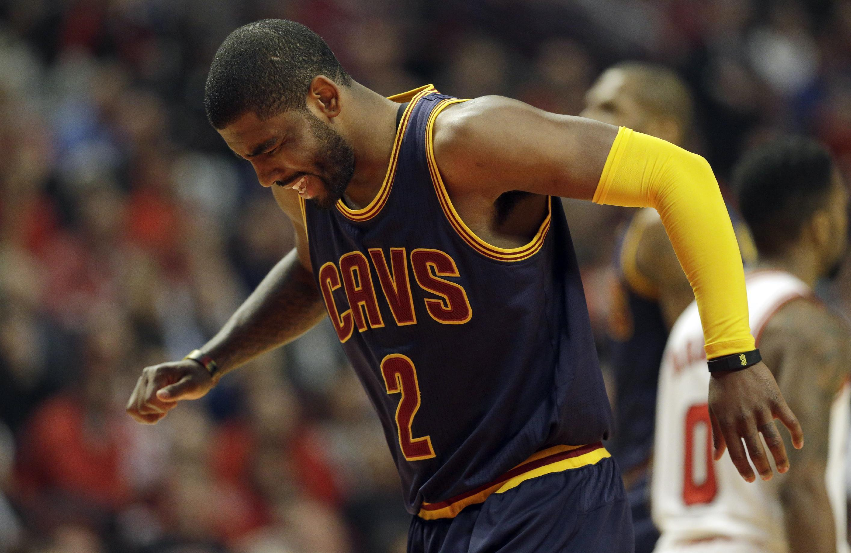 Cavs' Irving held out of Game 2 with sore left knee