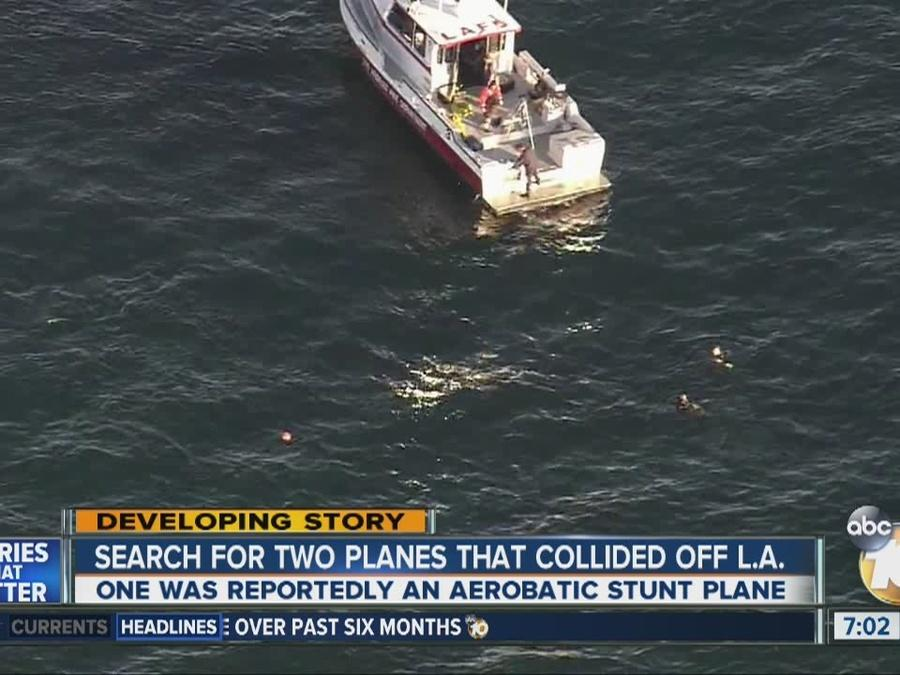3 people believed aboard 2 planes that collided off LA