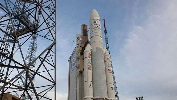 Europe's Largest-Ever Telecommunications Satellite Launches With Indian Weather Probe