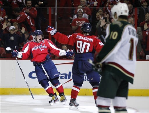 Twice the Ovi as Caps beat Wild 3-0 to reclaim 8th
