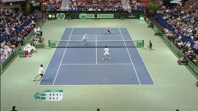 Serbia take 2-1 lead in Davis Cup clash with the USA