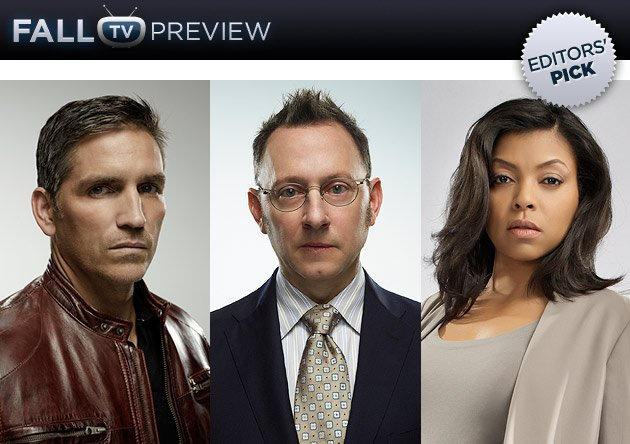 Stars Jim Caviezel, Michael Emerson, and Taraji P. Henson (CBS/Michael Muller/Warner Bros. Television)