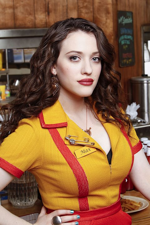 "Kat Dennings stars as Max Black in ""2 Broke Girls."""