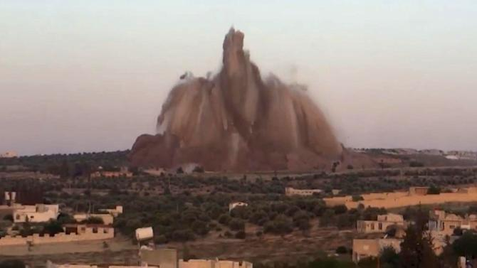 the bombing of a military base in Wadi Deif, northwest Syria