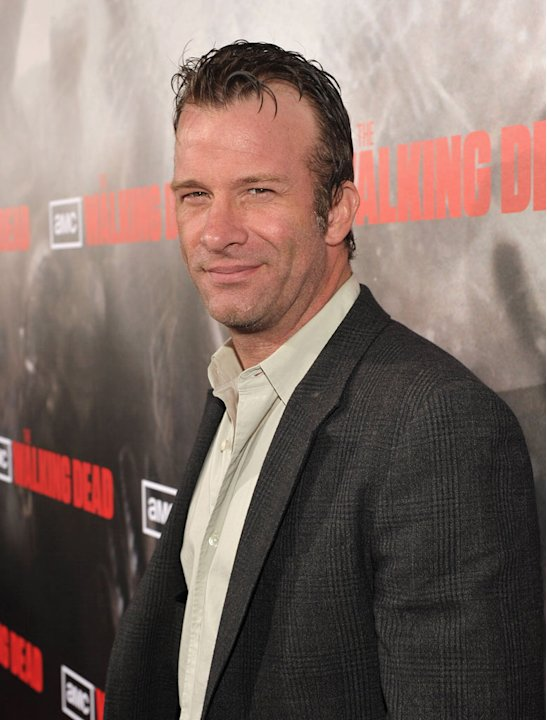 "Thomas Jane attends the Los Angeles premiere of ""The Walking Dead"" held at ArcLight Cinemas Cinerama Dome on October 26, 2010 in Hollywood, California."