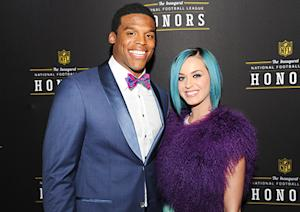 Katy Perry Flirts With NFL Quarterback Cam Newton at Pre-Super Bowl Bash
