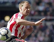 Sunderland midfielder David Meyler, pictured in 2010, has been called into the Republic of Ireland squad for their World Cup qualifiers against Germany and the Faroe Islands