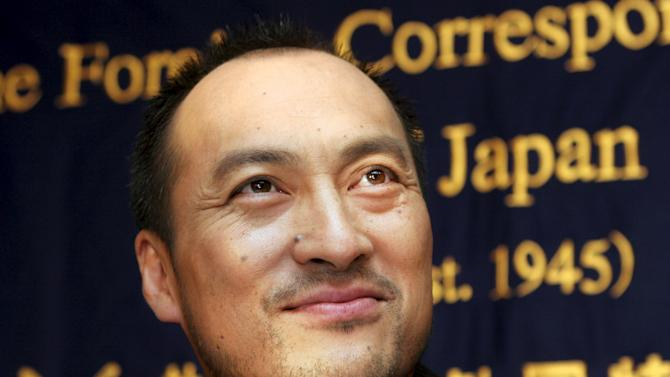File photo of Japanese actor Ken Watanabe speaking at Foreign Correspondents' Club in Tokyo