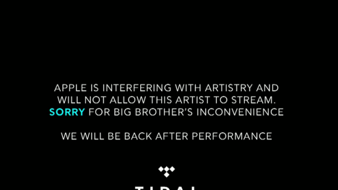 Tidal may have pretended that Apple shut down its livestream of a Drake show