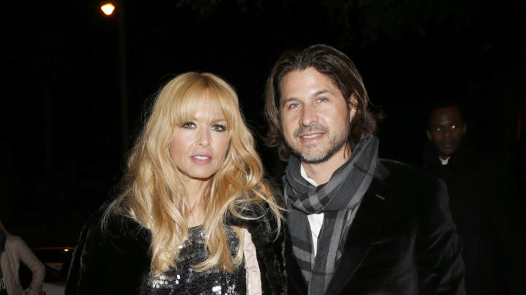 Rachel Zoe and Rodger Berman attend the W Magazine's Best Performances and Golden Globe Awards Party Presented by Cadillac, on Friday, January, 11, 2013 in Los Angeles. (Photo by Todd Williamson/Invision for Cadillac/AP Images)