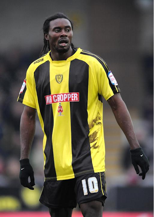 Calvin Zola was on target as Burton defeated Crewe