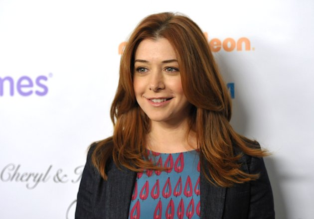 FILE - This Dec. 7, 2012 file photo shows actress Alyson Hannigan from the CBS comedy, &quot;How I Met Your Mother,&quot; at the March of Dimes Celebration of Babies in Beverly Hills, Calif. Hannigan obtained a temporary restraining order on Wednesday, Feb. 13, 2013 claiming a New Hampshire man recently released from a mental institution has been threatening to kill her and harm her family in online postings. (Photo by John Shearer/Invision/AP, file)