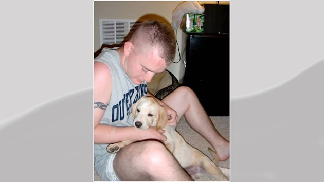 The dog of U.S. Army soldier, Brandon Harker, was given away when he was deployed to Afghanistan.