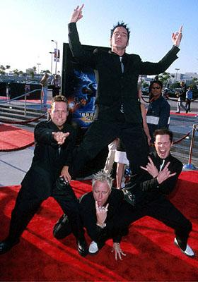 Those party boys from Lit at the Los Angeles Staples Center premiere of 20th Century Fox's Titan A.E.
