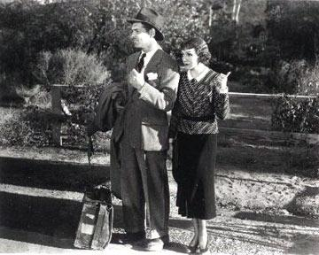 Clark Gable and Claudette Colbert in Columbia Pictures' It Happened One Night