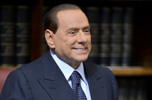 "<p>Former Italian prime minister Silvio Berlusconi reacts during a press conference on May 25, 2012. Berlusconi criticised his successor Mario Monti for raising taxes in an interview out on Tuesday, accusing him of being ""conditioned"" by the left.</p>"