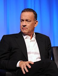 "Tom Hanks attends the Academy of Motion Picture Arts and Sciences official Academy members screening of ""Captain Phillips,"" in New York, on October 7, 2013"