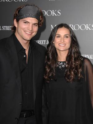 Ashton Kutcher and Demi Moore at the Hollywood premiere of MGMs' Mr. Brooks
