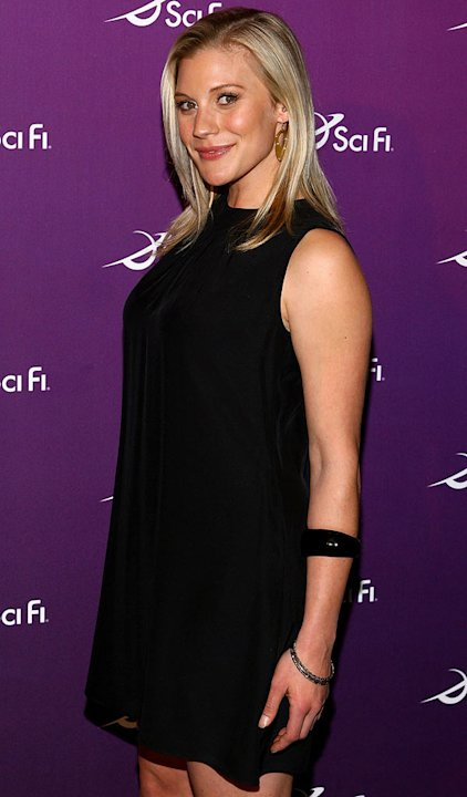 Katee Sackoff attends the Sci Fi Channel 2008 Upfront Party at The Morgan Library & Museum on March 18, 2008 in New York City.