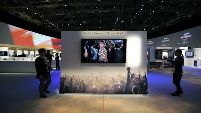 CES unveils big TVs with 'ultra-high definition'